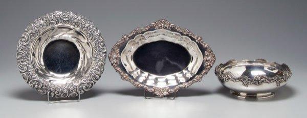 20: Three sterling bowls,