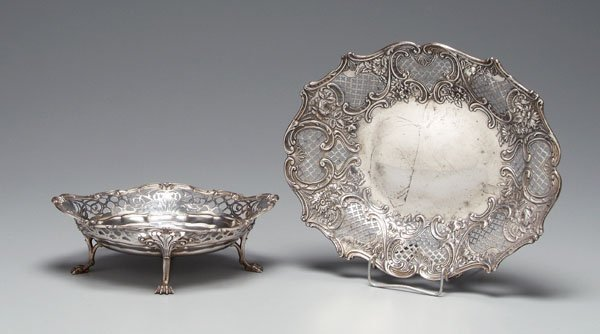 21: Gorham sterling bowl and tray,