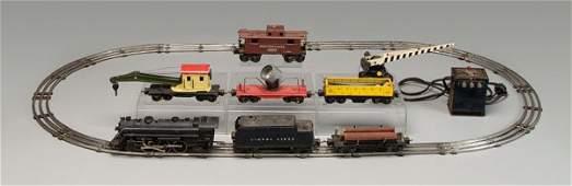 77: Lionel train set, prewar 027 gauge,