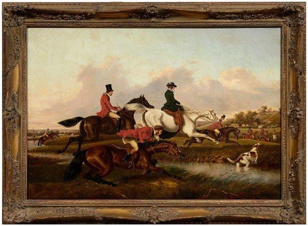 93: William Buck hunt painting