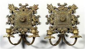307 Pair brass candelabra