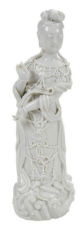 Chinese Blanc de Chine Porcelain Guanyin Figure