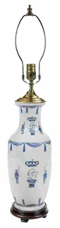 Chinese Export Armorial Porcelain Vase