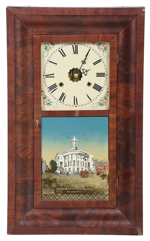 Jerome & Co. Classical Mahogany Shelf Clock