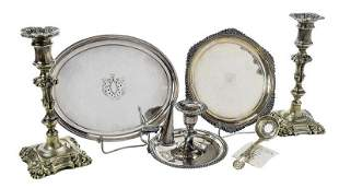 Six English Silver Table Items