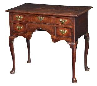 Queen Anne Oak Dressing Table