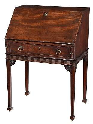 Fine George III Diminutive Mahogany Desk