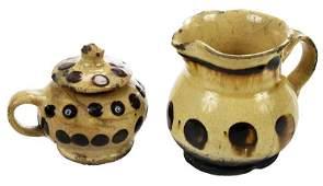 Two Early Staffordshire Slipware Vessels