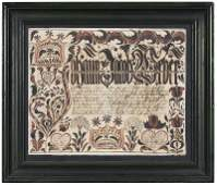 1774 Pennsylvania German Fraktur