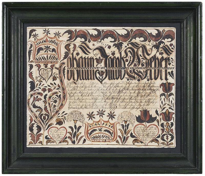 1774 Pennsylvania German Fraktur