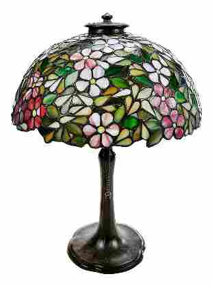Handel Stained Glass Dogwood Table Lamp