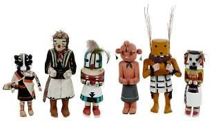 Six Hopi Kachina Dolls