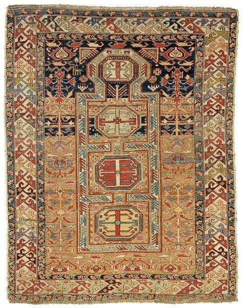 3: Shirvan prayer rug,