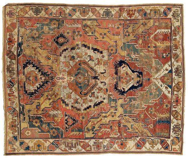 4: Caucasian dragon rug,