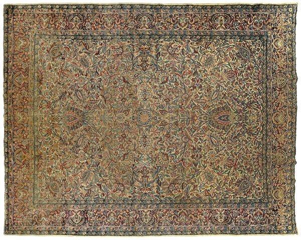 6: Kirman rug,