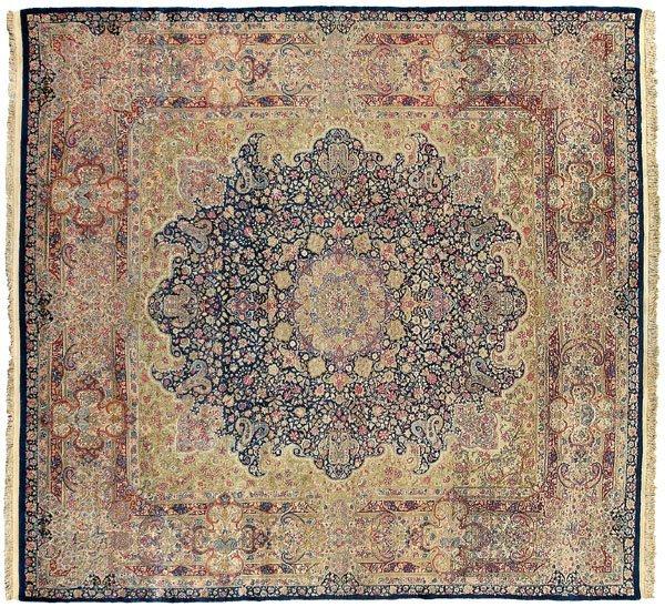 7: Kirman rug,