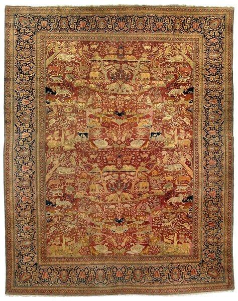 8: Pictorial Motasham Kashan carpet,