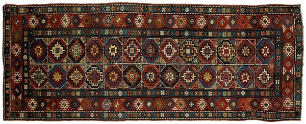 9: Moghan Kazak long rug,
