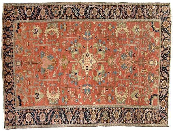13: 19th century Heriz carpet,