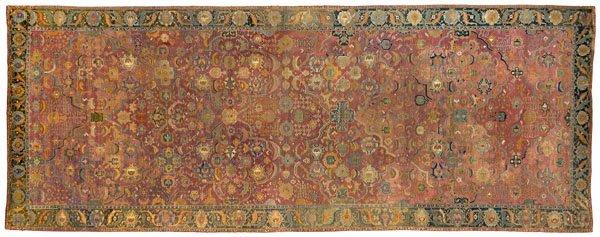 14: Indo-Persian carpet, 17th century,