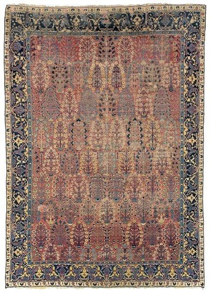 15: 17th century Kirman shrub carpet,