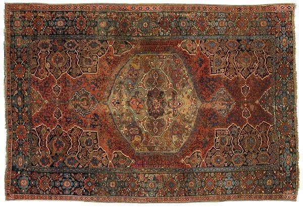 16: Oushak medallion carpet,