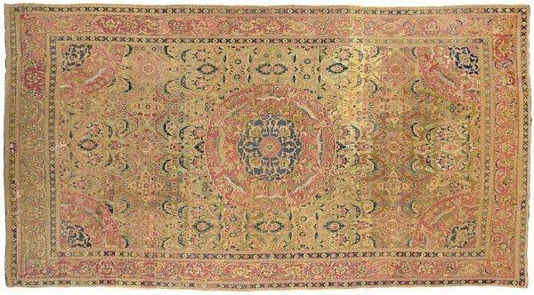 22: 17th century Ottoman carpet,