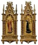 Pair Italian gothic frames