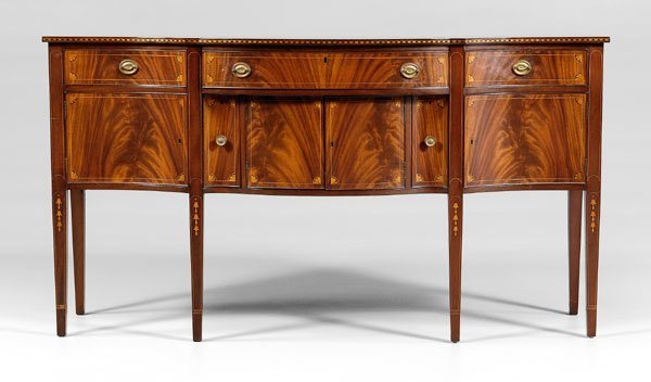 537: Federal style inlaid sideboard,