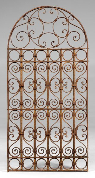 548: Suite of French wrought iron panels: