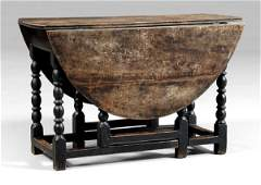 592 William and Mary oak dropleaf table