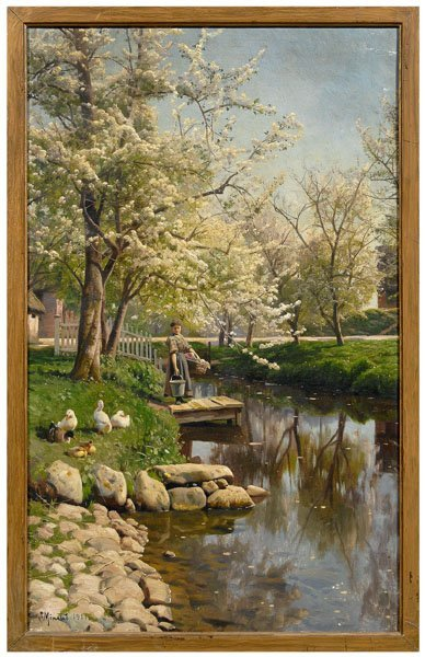 821: Peder Monsted painting