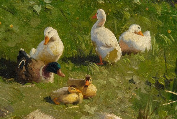 821: Peder Monsted painting - 2