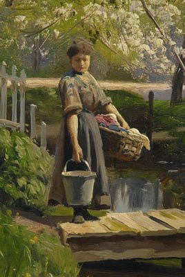 821: Peder Monsted painting - 4