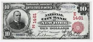 1902 $10 National City Bank New York, NY