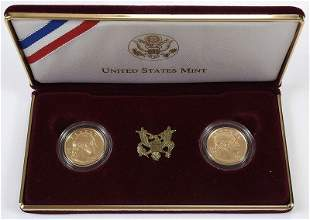 Washington Two Coin Gold Commemorative Set