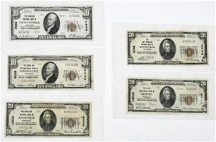 Five Small Tennessee National Notes