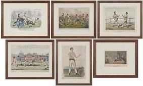 Six Framed Boxing Prints