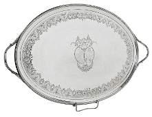 George III English Silver Tray