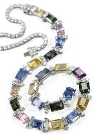 Oscar Heyman Sapphire and Diamond Necklace