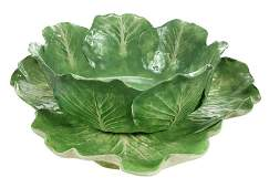 Dodie Thayer Lettuce Ware Bowl and Platter