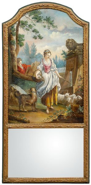 5: Louis XVI style gilt trumeau,