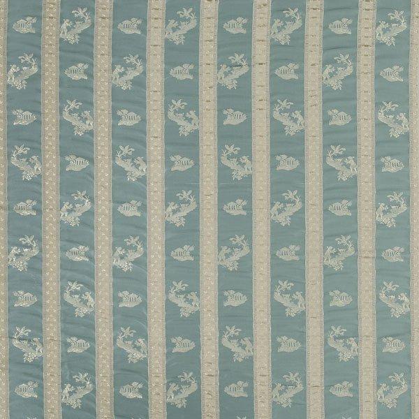 8: 16-1/2 yards Federal-stripe silk,
