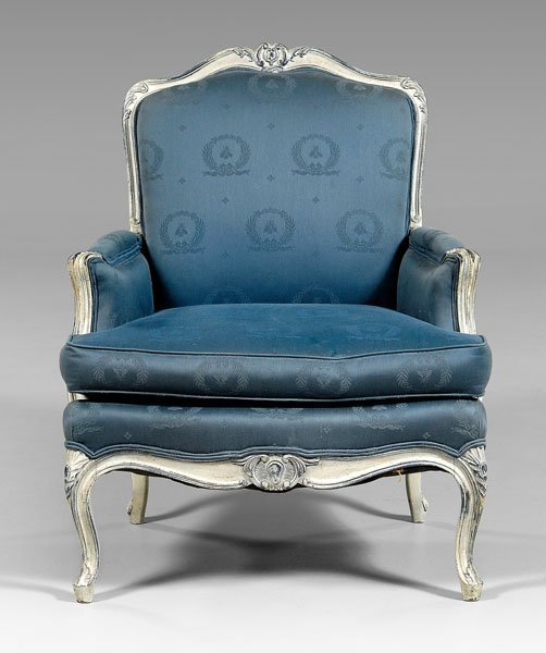 9: Louis XV style upholstered [bergere,]