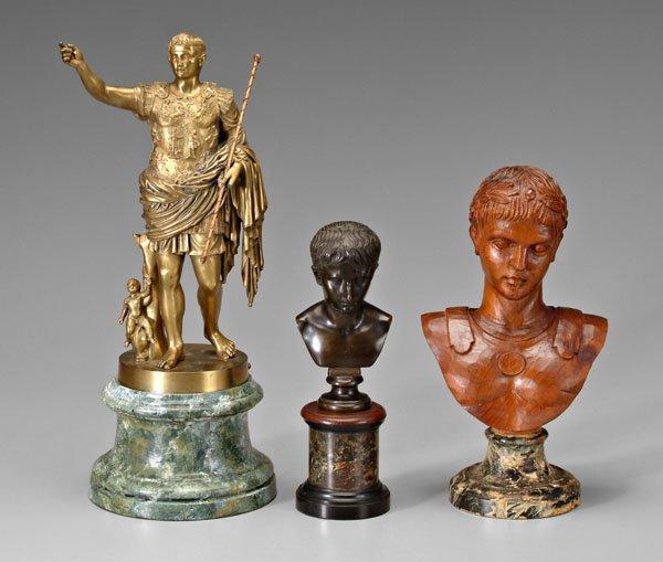 14: Three Caesar sculptures: