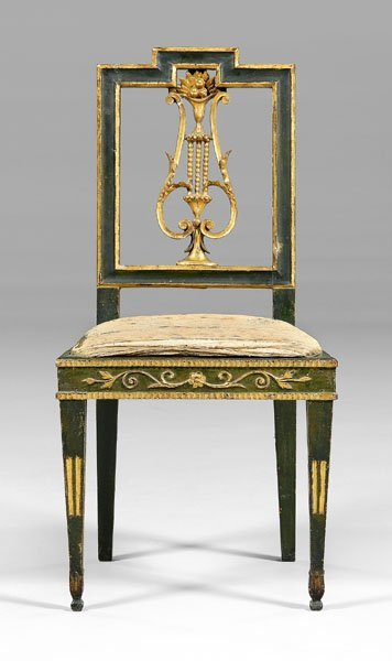 15: French [directoire] carved side chair,