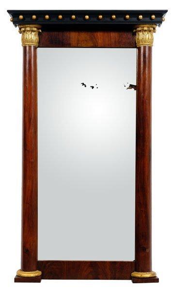 19: Empire mahogany pier mirror,