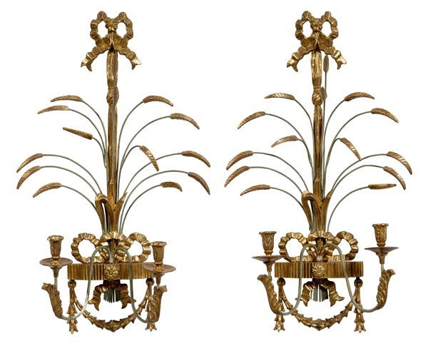 20: Pair Italian neoclassical style carved