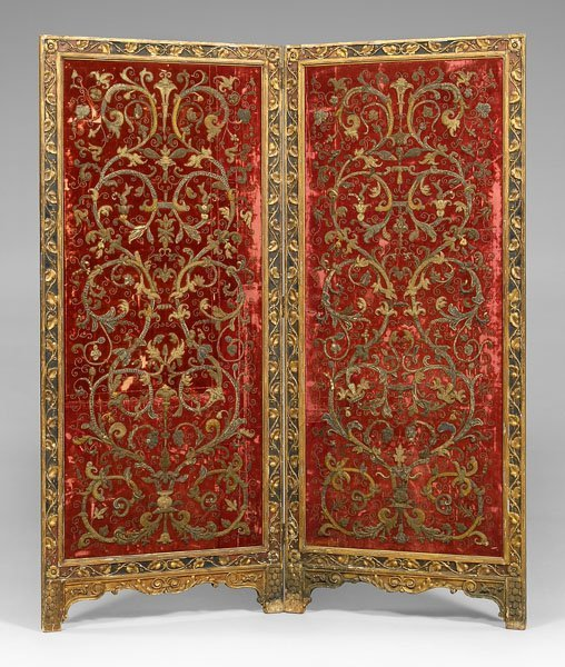 24: Italian carved and gilt room screen,