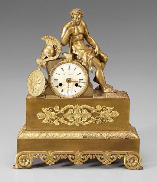 Classical bronze shelf clock,